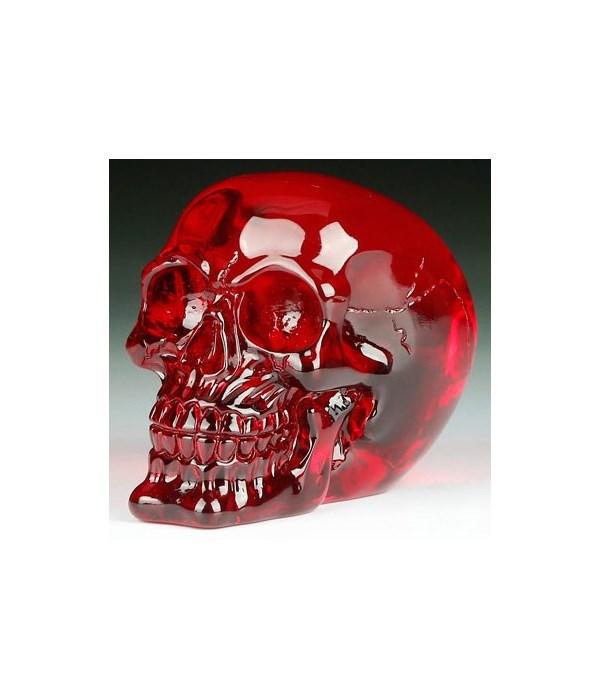 """Crystal skull Red 5""""T"""