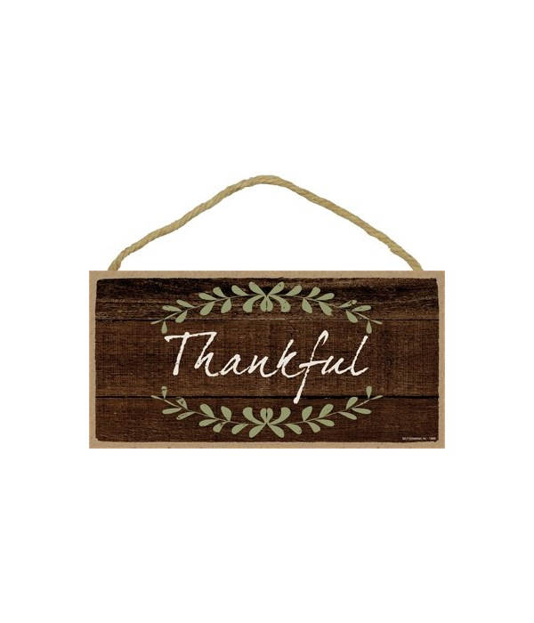 Thankful 5x10 sign