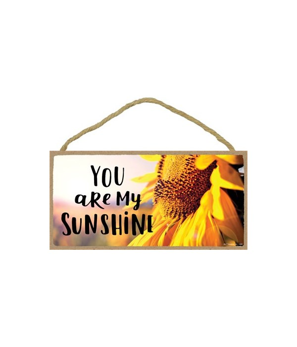 You are my sunshine 5x10 sign