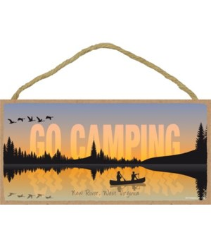 Go Camping - Lake sunset w/canoe silhoue