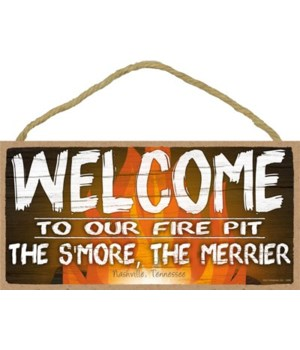Welcome to our Fire pit - fire bkgd 5x10