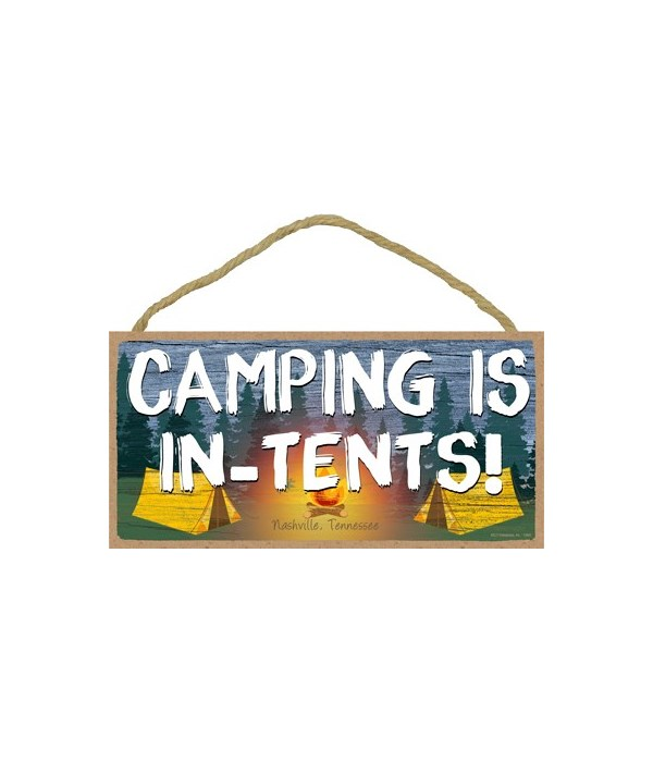 Camping is In-Tents - Camping scene 5x10
