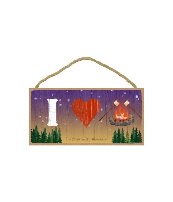 I (heart) Campfire w/marshmallows - symb