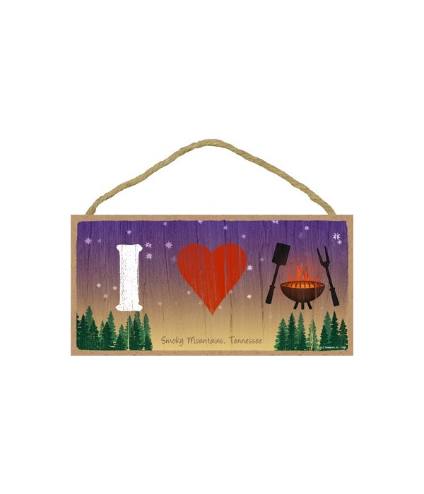 I (heart) grilling - symbols 5x10