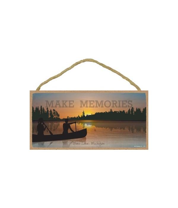 Make Memories - canoe silhouette - sunse