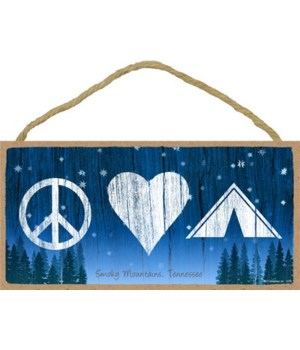 Peace - Love - Tent - symbols in a night