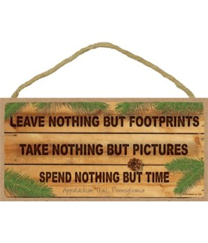 Leave nothing but footprints - Take not