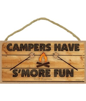 Campers have S'more fun - campfire w/ma
