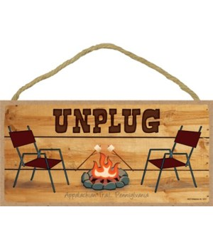 Unplug - chairs next to campfire 5x10