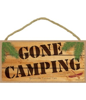 GONE CAMPING - wood sign 5x10