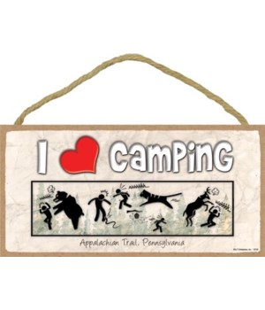I (heart) Camping - Comic of stick figur