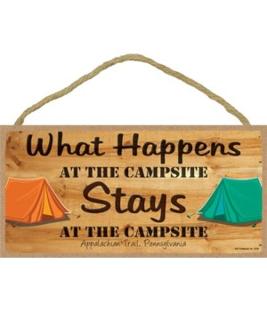 What happens at the campsite, Stays at t