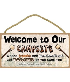 Welcome to our campsite - Where friends