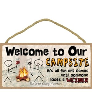 Welcome to our Campsite - It's all fun a