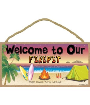 Welcome to our Firepit - Beach scene 5x1