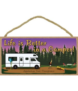 Life is Better in a Camper - Camp scene