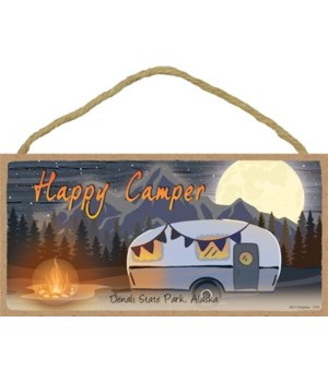 Happy Camper - Night scene w/camper and