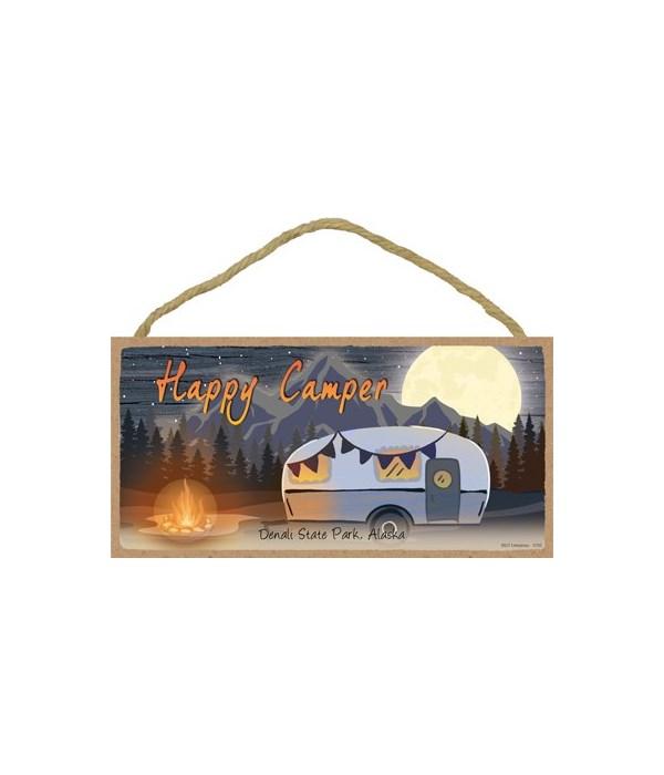 Happy Camper - Night scene w/camper and