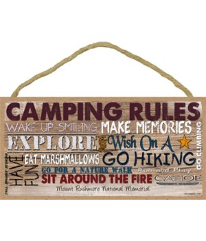 Camping Rules - Rustic camping words car