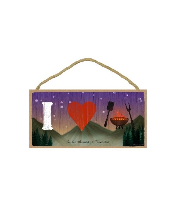 I (heart) grilling - symbols w/mountain