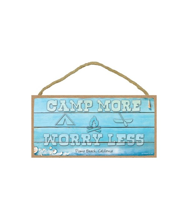 Camp More - Worry Less - Beach themed wo