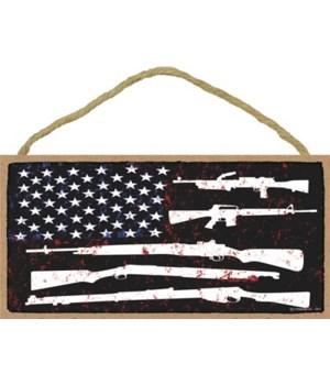 Flag stars w/guns  5x10