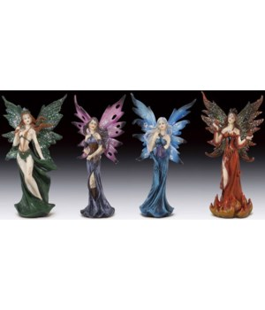"Fairies standing 4 pcs/set 7-1/2""T"