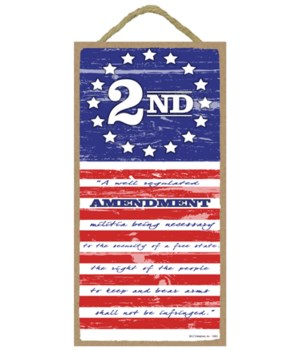 2nd Amendment Flag - (vertical) 5 x10 si