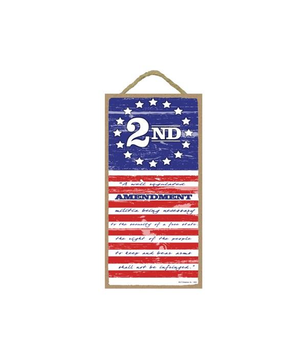2nd Amendment Flag - (vertical) 5 x10 si