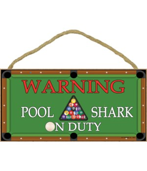 Warning - Pool Shark on Duty - pool tabl