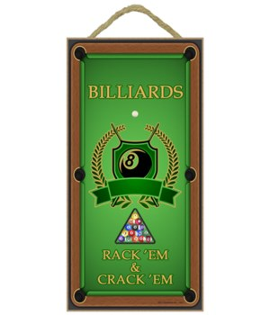 Billiards - Vertical sign - Rack'em & Cr