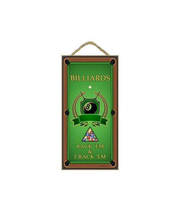 Billiards - Vertical sign - Rack'em & Cr