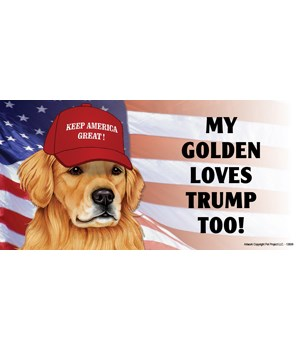 My Golden loves Trump too! (Retriever) M