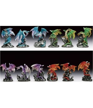 "Dragons 12 pc Assortment 2 3/4""T"
