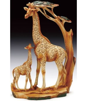 "Wood-like""carving Giraffe Family"
