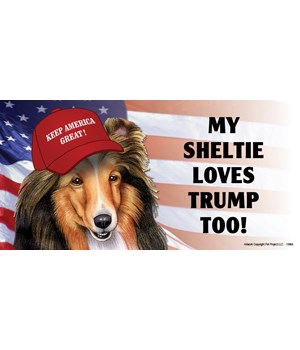 My Sheltie loves Trump too! Magnet