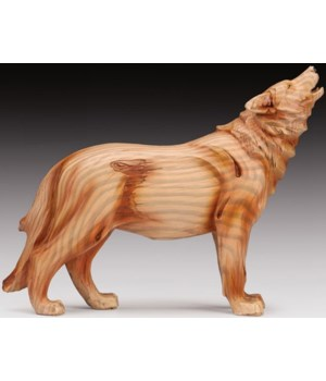 "Wood-like"" carved"" Wolf"