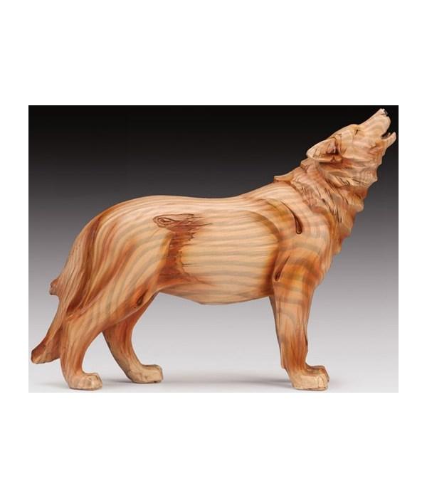 "Wood-like"" carved"" Wolf"