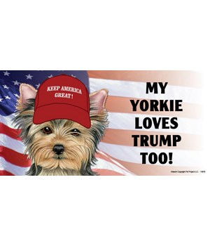 My Yorkie loves Trump too! Magnet