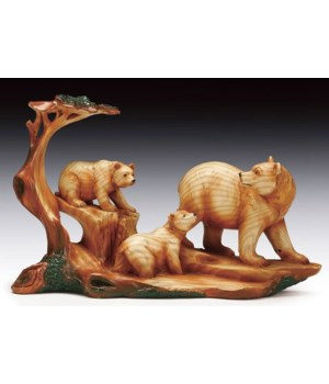 "Wood-like""carved""'3 Bear 5.75""T"