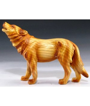 "Wood-like""carved""' howling wolf 5"""