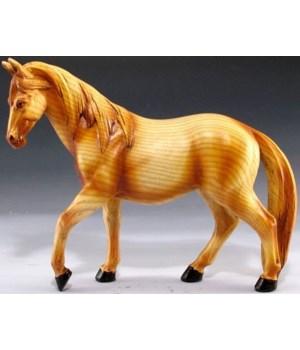 """Wood-like horse 5.5"""""""