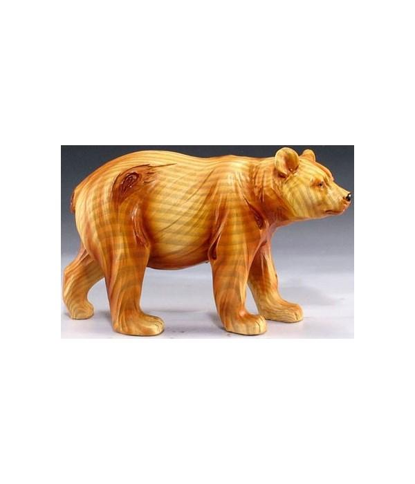 """Wood-like""""carved""""' bear 4.25"""""""
