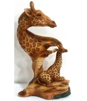 "Wood-like""carved"" Giraffe Head 7.75"""