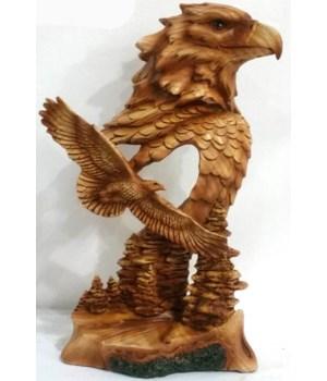 "Wood-like"" carved"" Eagle Head 7"""
