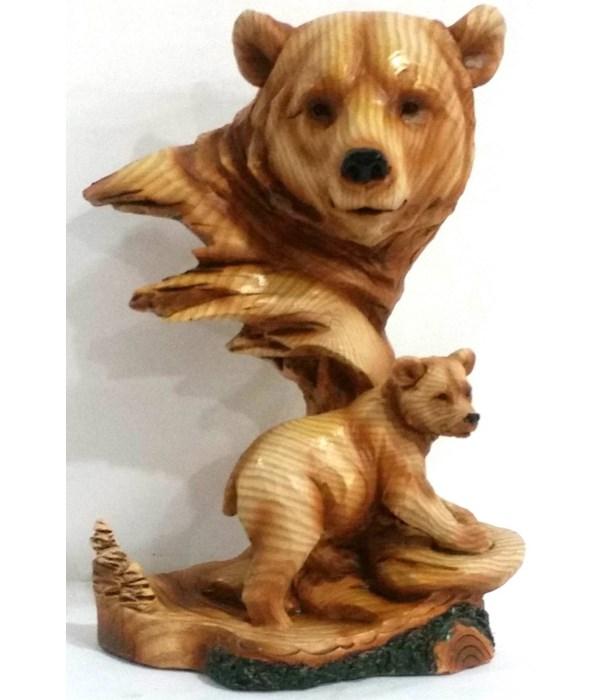 """Wood-like""""carved""""' Bear Head"""