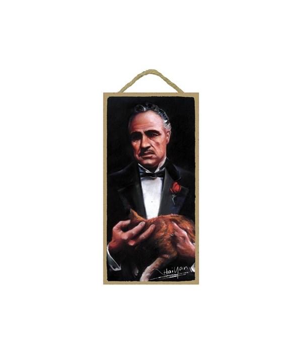 Godfather (holding cat) Don Vito Corleon