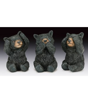 Bear-Hear,Speak,See No Evil 12PC Unit
