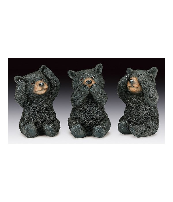 Bear-Hear,Speak,See No Evil 12PC Unit