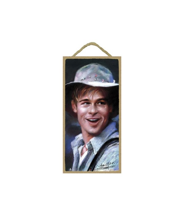 Brad Pitt (wearing a hat)